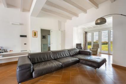 Living room with sofa and tv